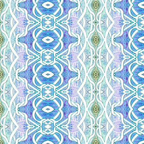 Persian Scallop fabric by edsel2084 on Spoonflower - custom fabric