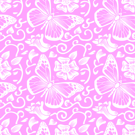 Fluttering Rose fabric by dianne_annelli on Spoonflower - custom fabric