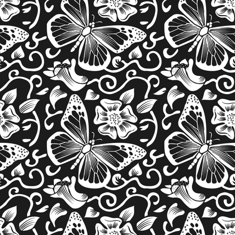 Fluttering Darkness fabric by dianne_annelli on Spoonflower - custom fabric