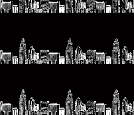 the city fabric by annaboo on Spoonflower - custom fabric
