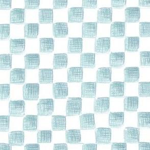 Bowditch's blue squares on plane white