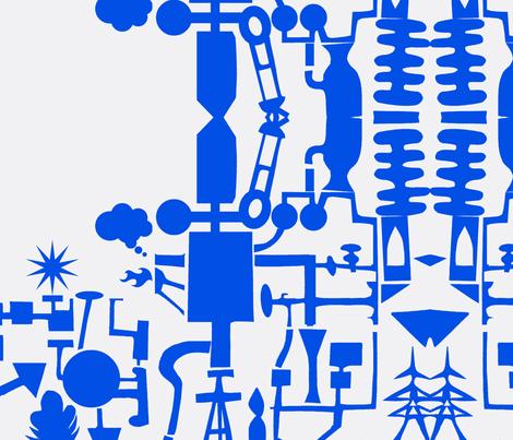 Contrary Power Plant fabric by boris_thumbkin on Spoonflower - custom fabric