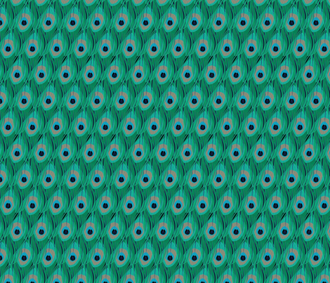 peacock_layers_vertical fabric by glimmericks on Spoonflower - custom fabric