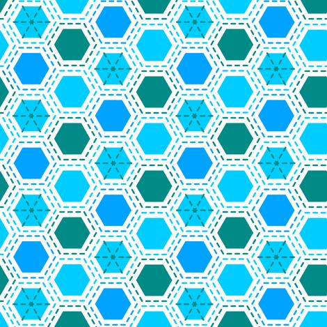 Tilkkutakki (Cool Colours) A fabric by nekineko on Spoonflower - custom fabric