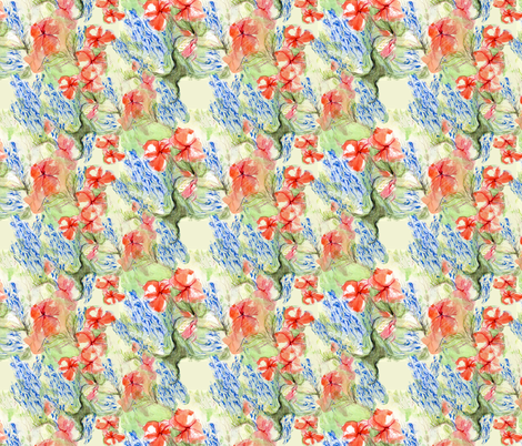 Balsam and lobelia flow by Alexandra Cook fabric by linandara on Spoonflower - custom fabric