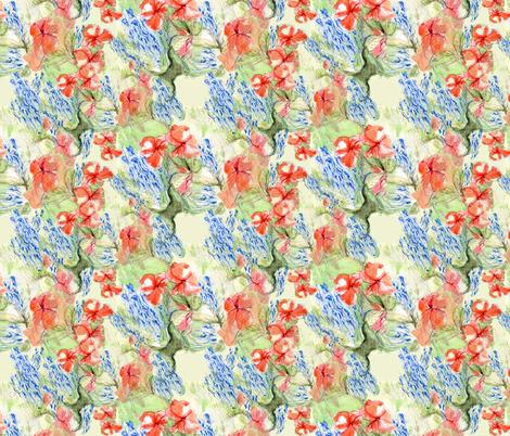 Balsam and lobelia flow by Alexandra Cook fabric by linandara on Spoonflower - custom fabric