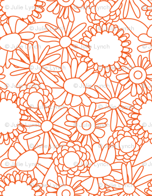 Wobbly floral orange