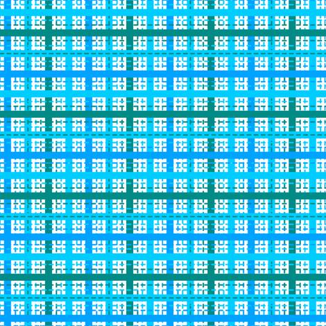 Tilkkutakki (Cool Colours) E fabric by nekineko on Spoonflower - custom fabric