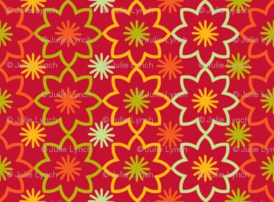 Flower star red