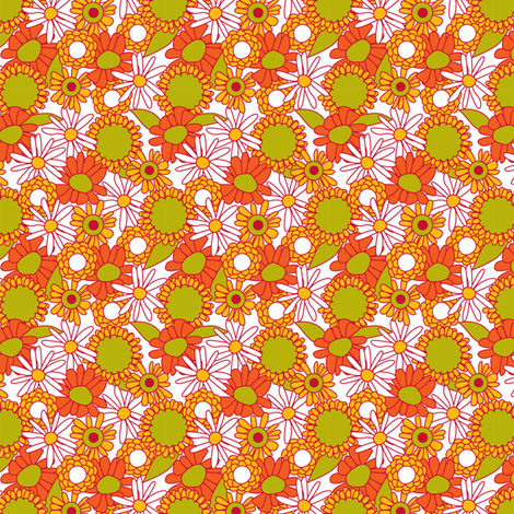 Wobbly floral multi fabric by cjldesigns on Spoonflower - custom fabric