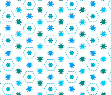 Tilkkutakki (Cool Colours) I fabric by nekineko on Spoonflower - custom fabric