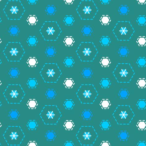 Tilkkutakki (Cool Colours) J fabric by nekineko on Spoonflower - custom fabric