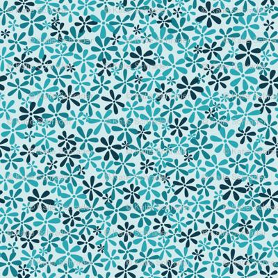 Tiny Blue Flowers Ditsy Print