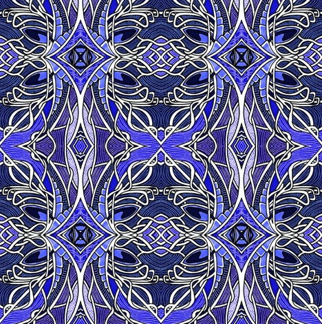 Twisted Roots Blues fabric by edsel2084 on Spoonflower - custom fabric