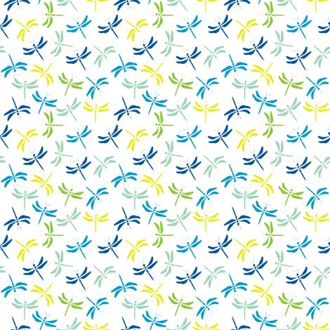 dragonfly meadow  fabric by wednesdaysgirl on Spoonflower - custom fabric