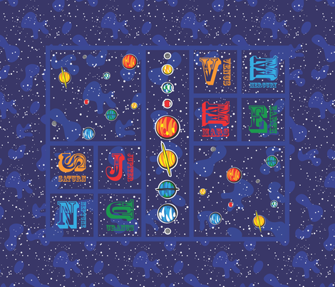 Our Solar System Cheater Quilt fabric - robyriker - Spoonflower