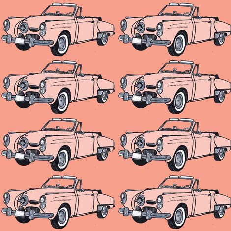 1950 Studebaker convertible  fabric by edsel2084 on Spoonflower - custom fabric