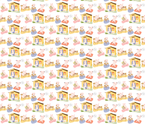 pigsinaline fabric by meg56003 on Spoonflower - custom fabric