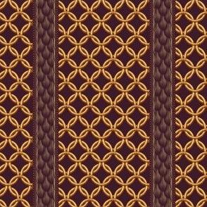Chain Link Stripe - Plum Gold
