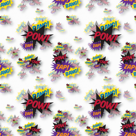 onomatopoeia ditsy - full colour fabric by carabaradesigns on Spoonflower - custom fabric