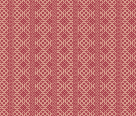 Chain LInk Stripe - Lipstick fabric by glimmericks on Spoonflower - custom fabric