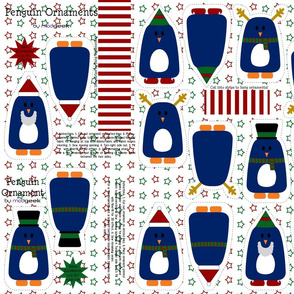 holiday penguin ornaments