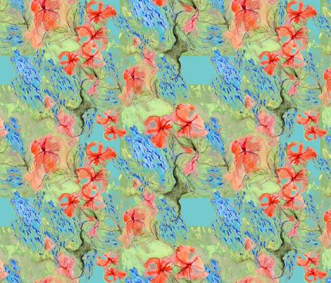 Balsam and lobelia - green - by Alexandra Cook fabric by linandara on Spoonflower - custom fabric