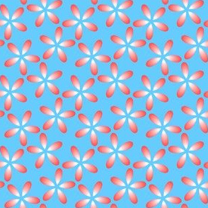 00777656 : S43 floral : red petals in the sky