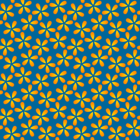 petals in the sky (S43C 2.5) fabric by sef on Spoonflower - custom fabric