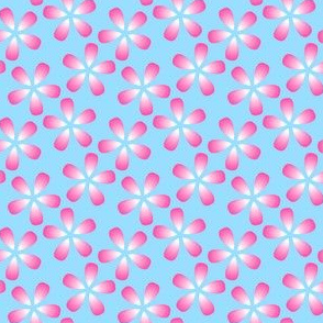 00777686 : S43 floral : pink petals in the sky