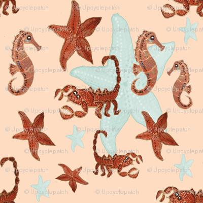 Starfish and friends-peach