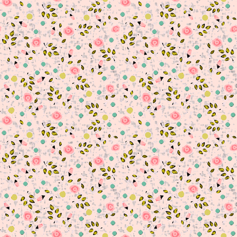 Ditsy spring flower in pink fabric by lucybaribeau on Spoonflower - custom fabric