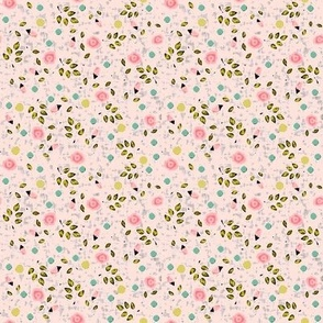 Ditsy spring flower in pink