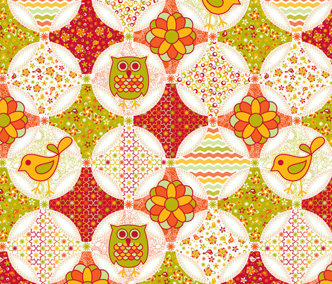 Happy little ditsy cheater quilt fabric by cjldesigns on Spoonflower - custom fabric