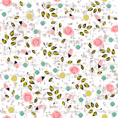 Ditsy prints flower in white