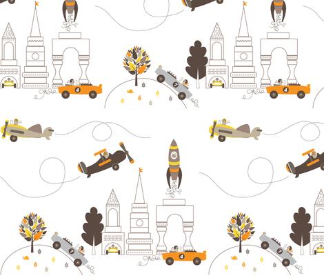 Les Monsieurs en Ville fabric by kayajoy on Spoonflower - custom fabric