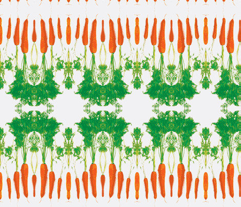 Cabbage and carrot-white small fabric by miss_blümchen on Spoonflower - custom fabric