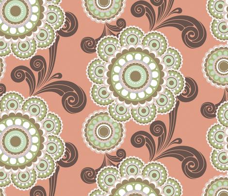vintageOrange2YD fabric by caramae on Spoonflower - custom fabric