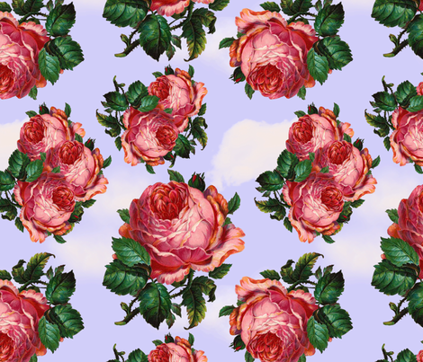 Blowsy Sky fabric by glanoramay on Spoonflower - custom fabric
