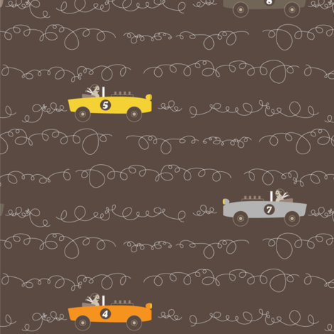 Scribble Cars fabric by kayajoy on Spoonflower - custom fabric