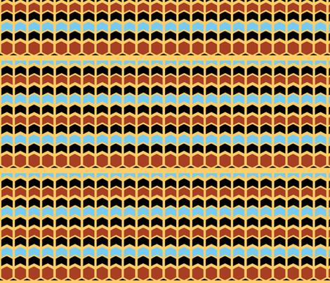Egyptian Chevron fabric by pond_ripple on Spoonflower - custom fabric