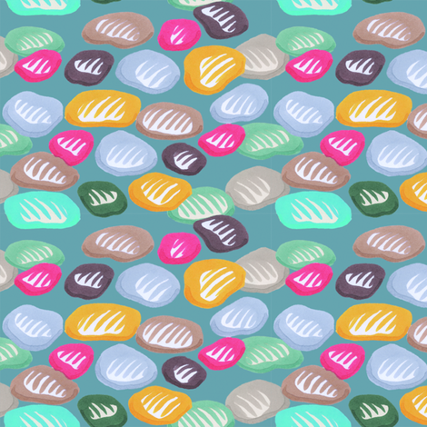 River Pebbles fabric by whatsit on Spoonflower - custom fabric