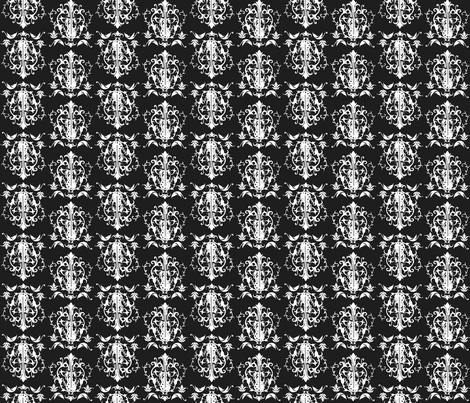 Damask mini - multi in black fabric by dorolimited on Spoonflower - custom fabric