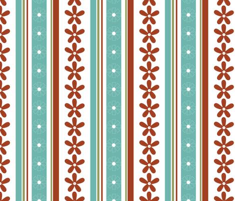 Daisy_Stripe fabric by christiem on Spoonflower - custom fabric