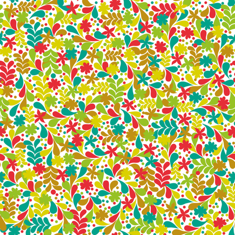 Flowers and paisley Ditsy fabric by made_in_shina on Spoonflower - custom fabric