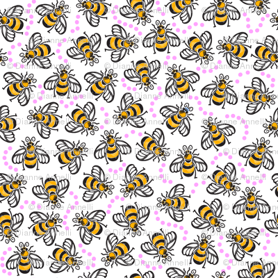A Beezy Ditsy - Pink
