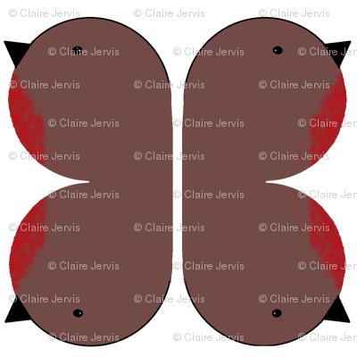 two robin plushies