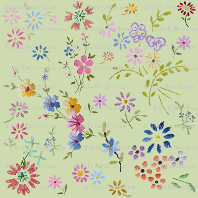little_embroidered_flowers_green