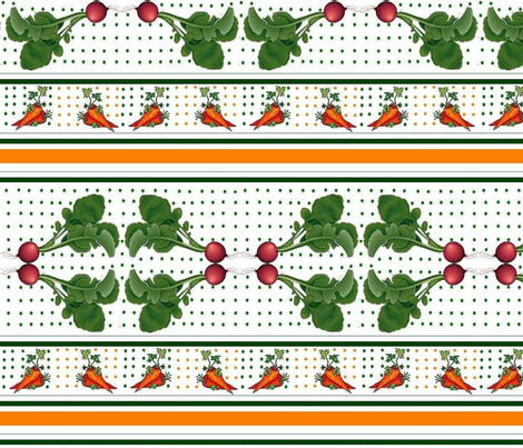 redish and carrot in the layer of soil! fabric by raasma on Spoonflower - custom fabric