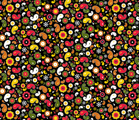 Black ditsy - Large scale fabric by newmomdesigns on Spoonflower - custom fabric